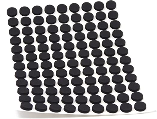selbstklebend Wei/ß 2.5 mm 108 x Antirutsch Pads aus EPDM//Zellkautschuk Rutschhemmende Pads inTop-Qualit/ät rund /Ø 10 mm