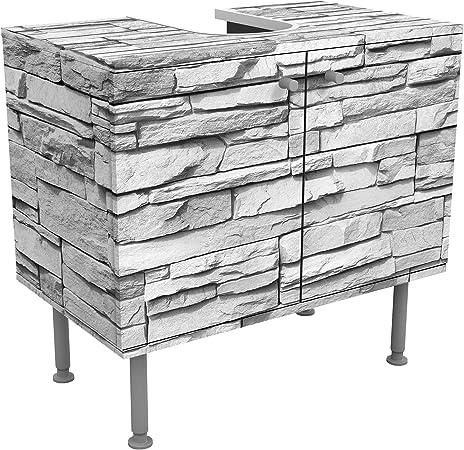 Meuble sous vasque design Ashlar Masonryl 60x55x35cm, petit ...