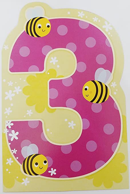Be Cute As Can Bee Thats You Being Three Happy 3rd Birthday Greeting Card