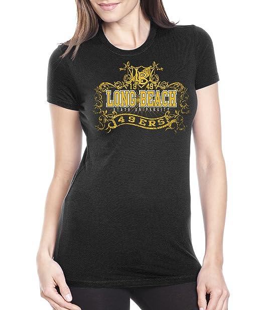feb9e9c42 NCAA Long Beach State 49Ers Women's Prius2 Long Body Classic T-Shirt (Black,