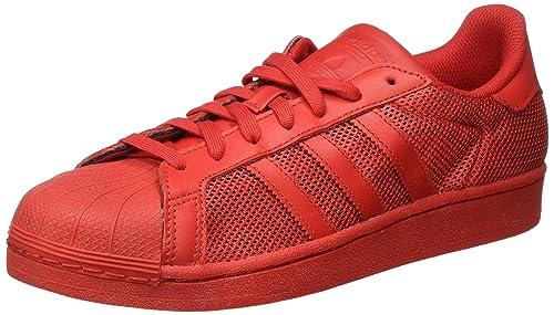 adidas Superstar, Scarpe da Ginnastica Basse Uomo, Rosso Collegiate Red, 40 EU
