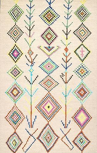 nuLOOM Belini Hand Tufted Wool Rug, 6 x 9 , Ivory