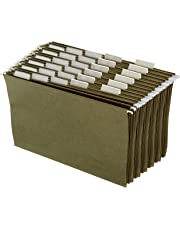 AmazonBasics Hanging Office Cabinet File Folders - Legal Size, Green, 25-Pack - AMZ110