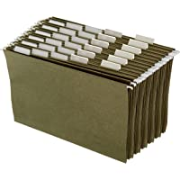 Amazon Basics Hanging Office Cabinet File Folders - Legal Size, Green - Pack of 25