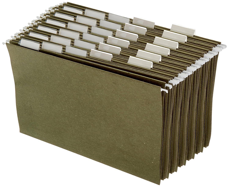 AmazonBasics Hanging File Folders - Legal Size, Green, 25-Pack