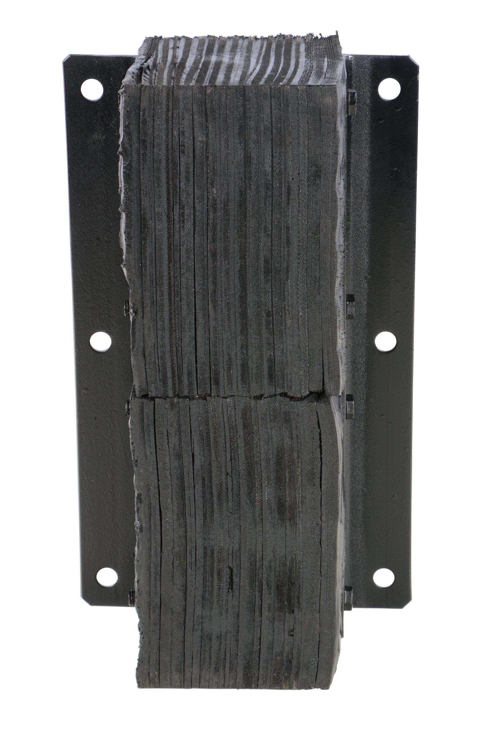 Vestil V-1124-6 Rubber Vertical Laminated Dock Bumper, 24'' Length, 11'' Width, 6'' Depth by Vestil (Image #4)