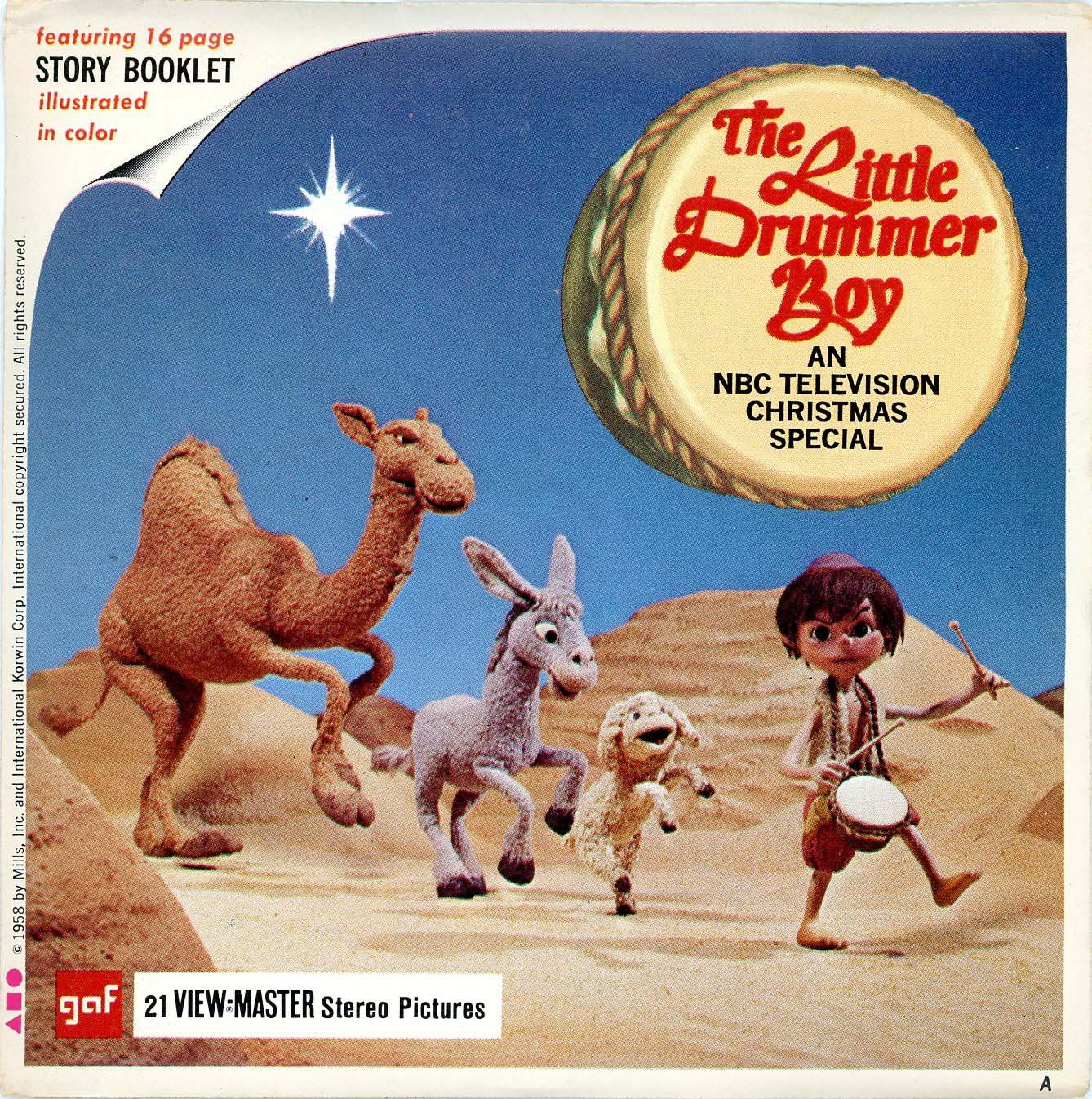 Classic ViewMaster - The Little Drummer Boy - an NBC Television Christmas Special - Unsold store stock - never opened by 3Dstereo ViewMaster (Image #1)