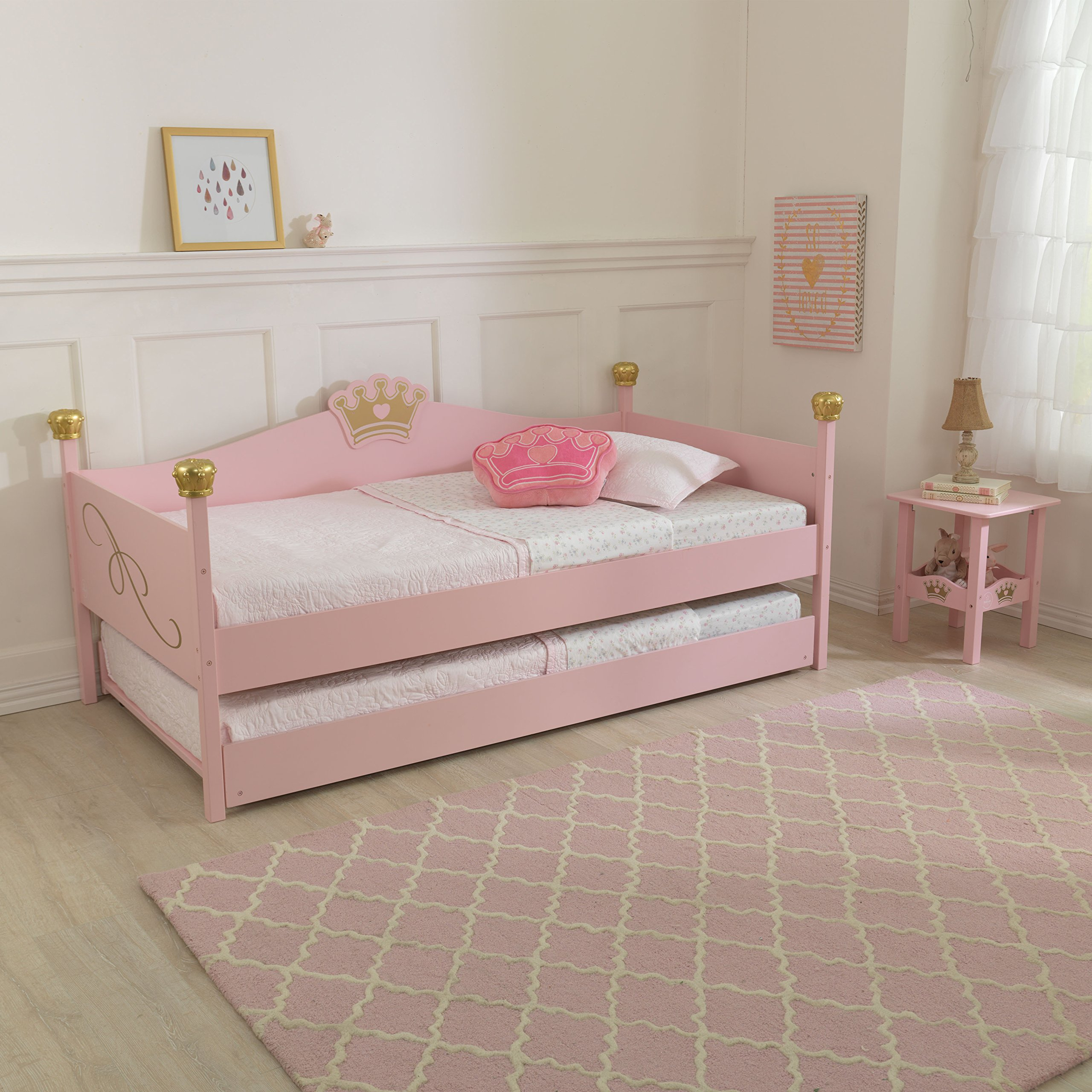 KidKraft Girls Twin Trundle Bed, Pink by KidKraft