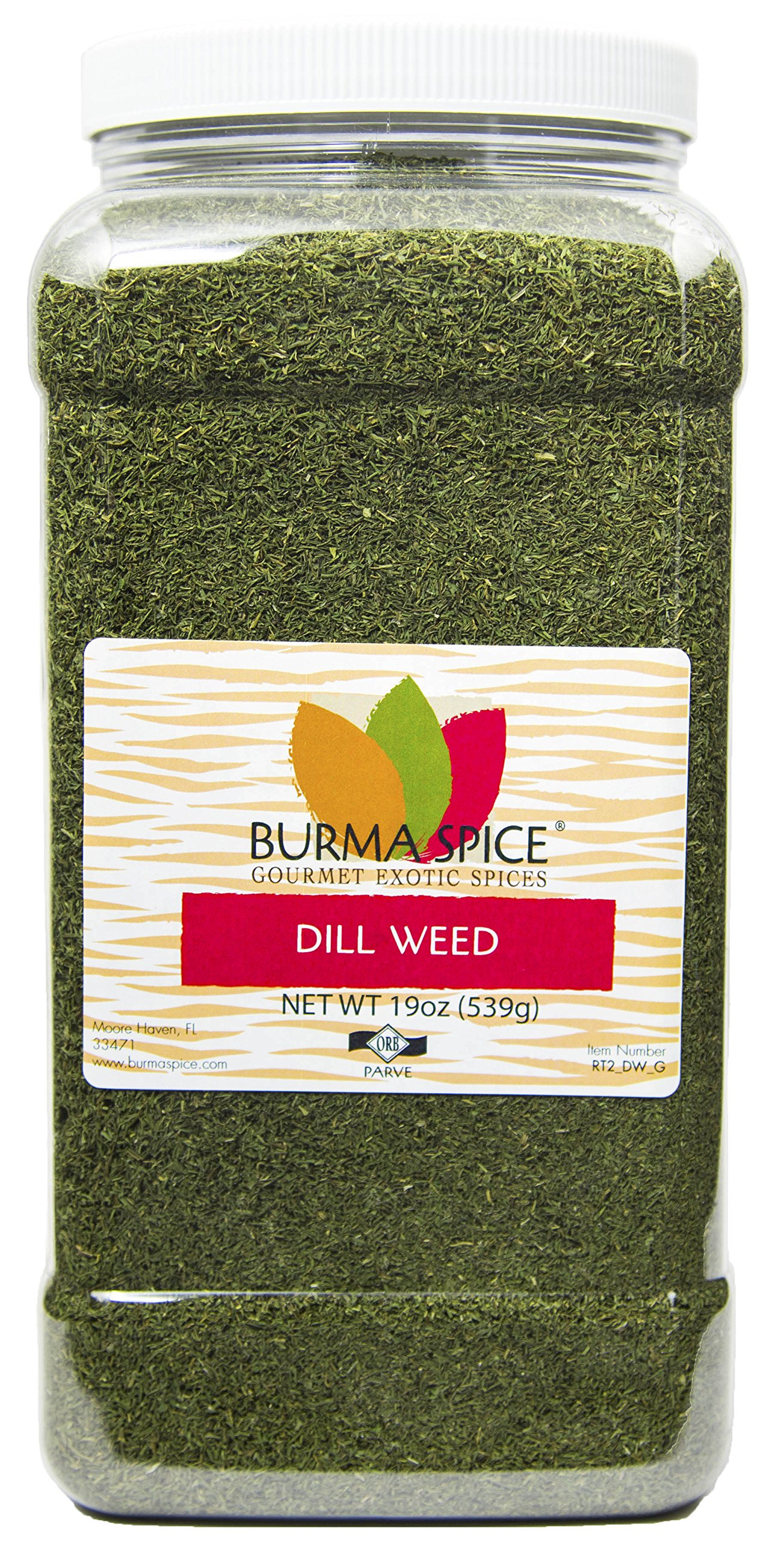 Dill Weed : Dried Natural Herb Seasoning Spice : Kosher Certified (19oz.)
