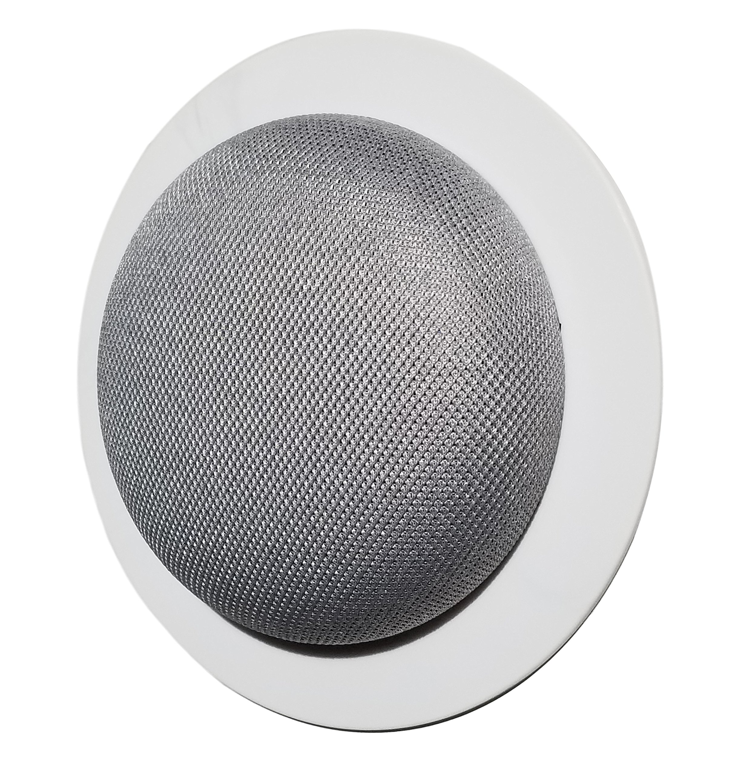 The Simple Built-in Google Home Mini Mount: Custom Built-in Wall or Ceiling Mount Holder for Home Mini Voice Assistants by Google - Designed in The USA by Mount Genie (5-Pack)