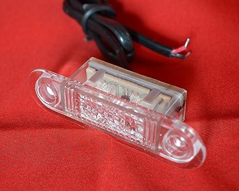 Plafoniere A Led Per Furgoni : Plafoniera led blu volt lato anteriore posteriore marcatore