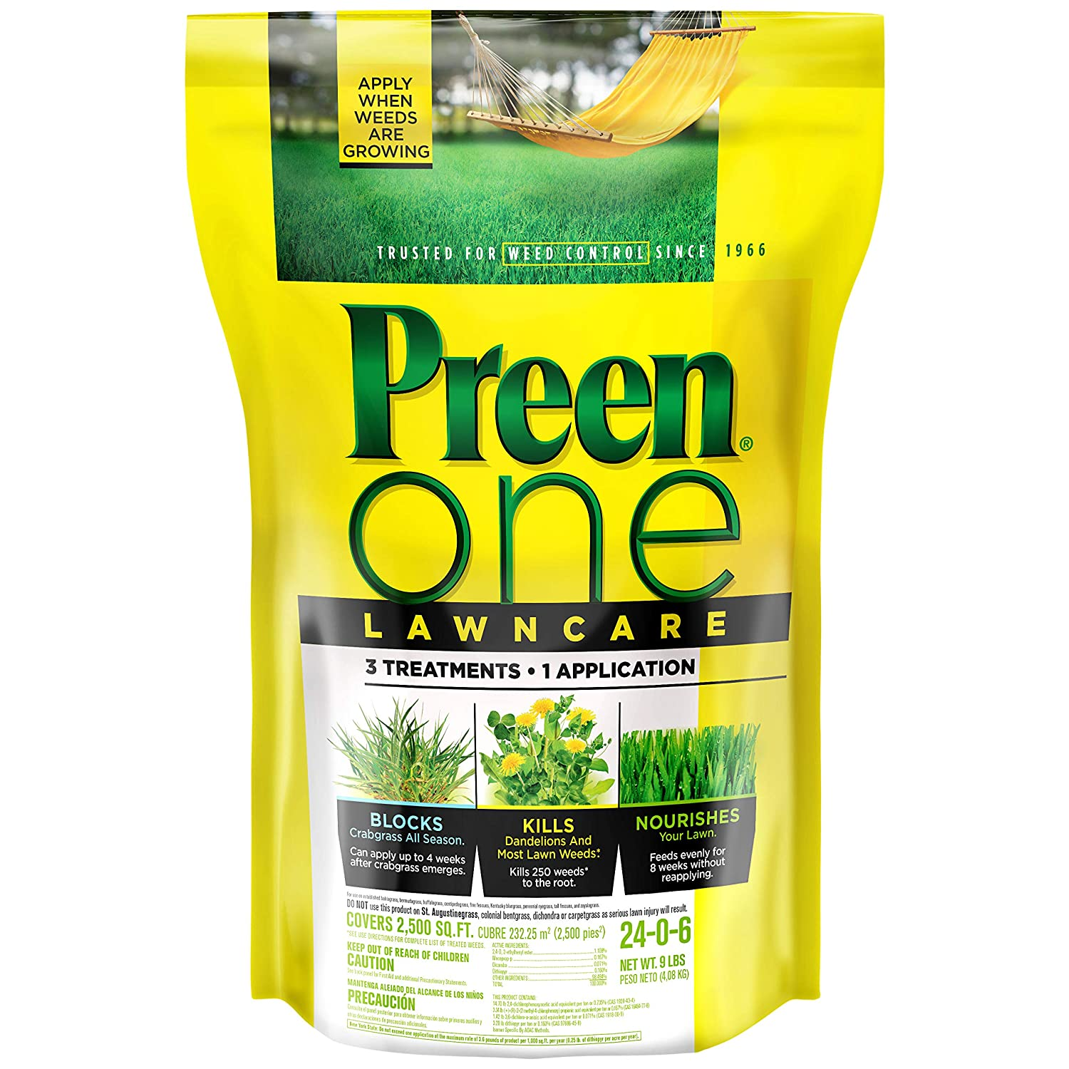 Preen 2164179 One Lawncare Weed & Feed