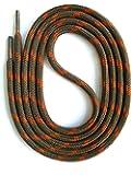 SNORS - Schnürsenkel - SICHERHEITSSENKEL Schlamm/Orange, ca. 5mm - RUNDSENKEL für Arbeitsschuhe, Wanderschuhe, Trekkingschuhe
