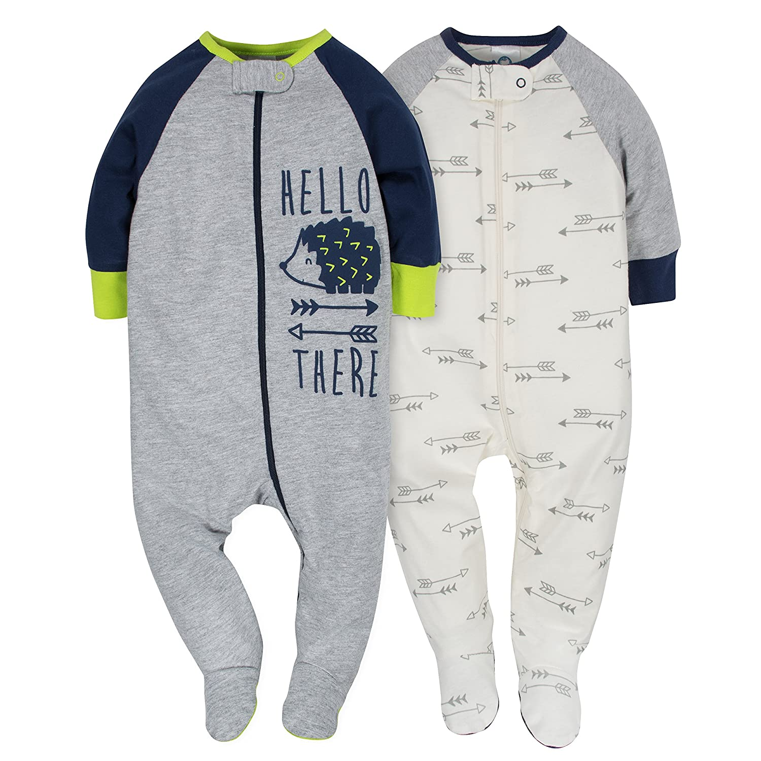 Gerber Baby Boys' 2 Pack Zip Front Sleep 'n Play Gerber Children' s Apparel