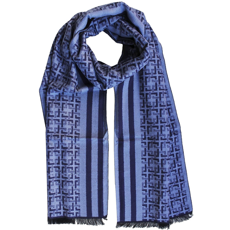 FERETI Echarpe Homme Soie Bleu A Large Rayures Et Tartan Abstract Carreaux  Foulard Automne Hiver  Amazon.fr  Vêtements et accessoires c259f6ef1ab