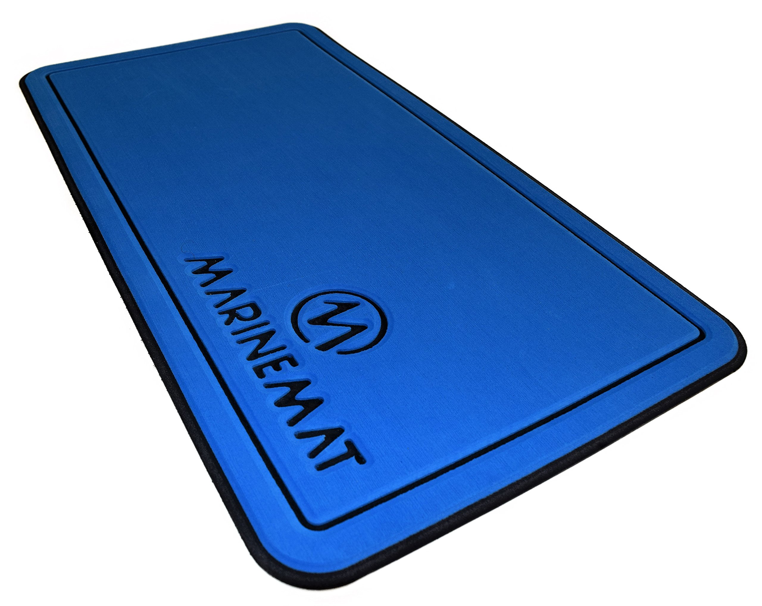 Marine Mat YETI Tundra Cooler Pad by (Aegean Blue Over Black, Fits Tundra 50) by Marine Mat