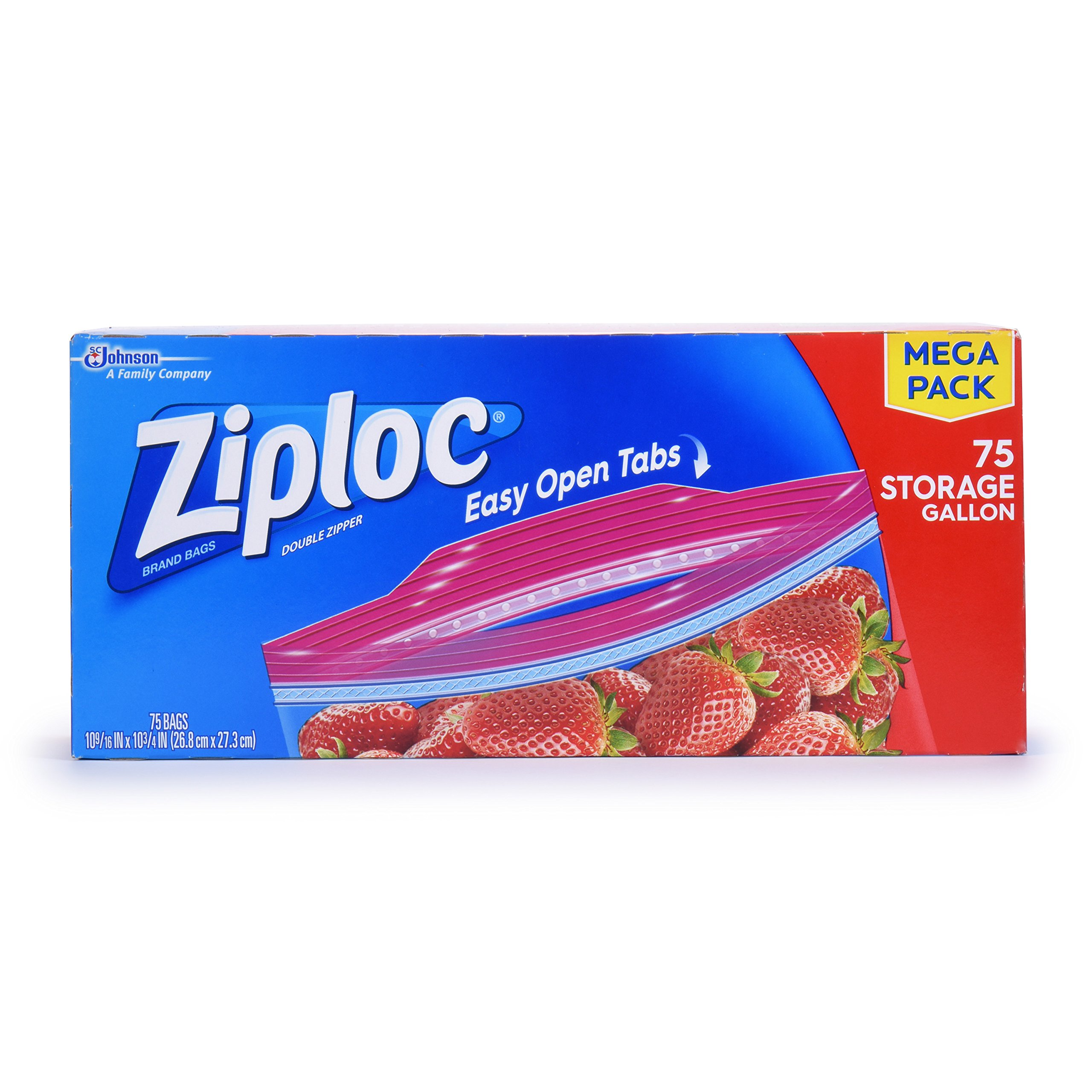 Amazon.com: Ziploc Storage Quart Bags, 80.0 Count: Health