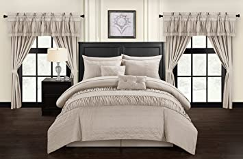 20 piece comforter set king Amazon.com: Chic Home Mykonos 20 Piece Comforter Set, King, Taupe  20 piece comforter set king