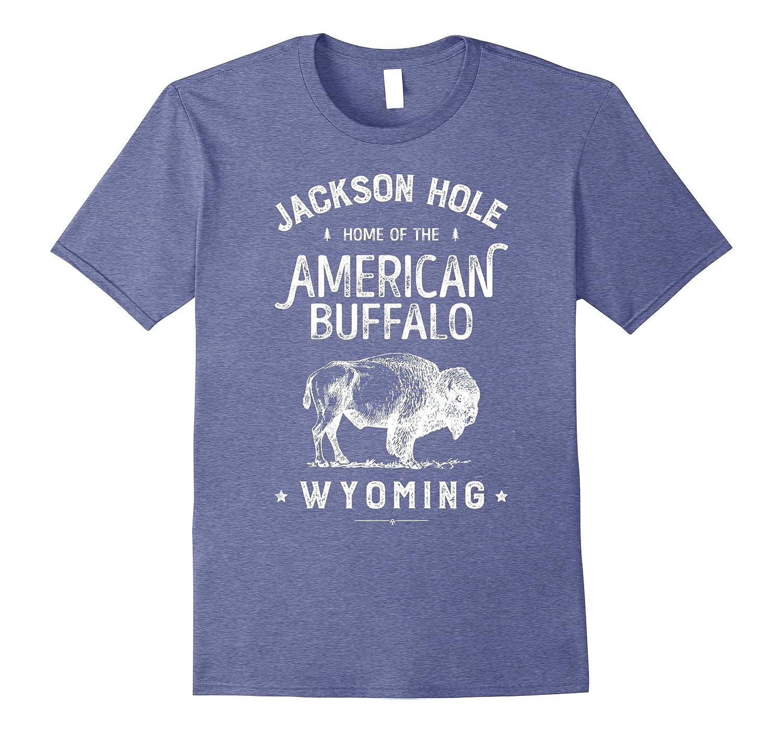 Jackson Hole Wyoming Vintage Bison Buffalo T Shirt Men Women-Art