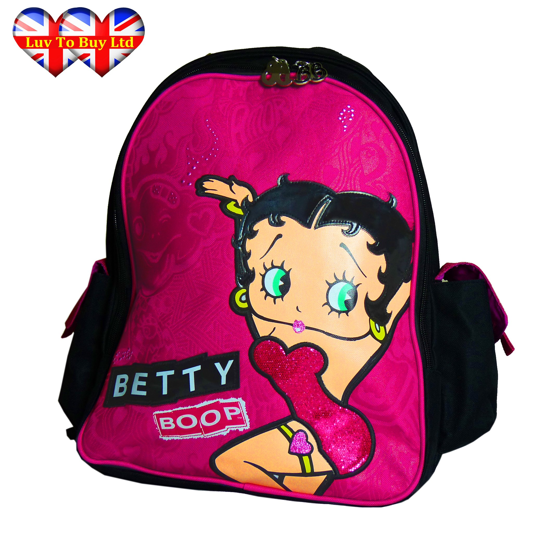 Betty Boop School Bag,Brand,Official Licensed Backpack (Clearance- Stock Reduced RRP:$50)