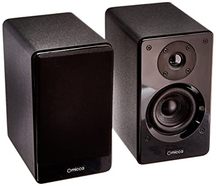 Micca Club 3 Bookshelf Speakers With 35 Inch Carbon Fiber Woofer And Silk Dome Tweeter