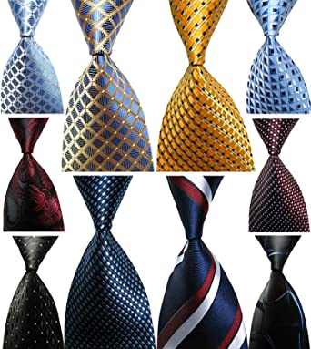 Wehug lot 10 pcs classic mens tie 100 silk tie woven jacquard wehug lot 10 pcs classic mens tie 100 silk tie woven jacquard neckties ties for ccuart Image collections