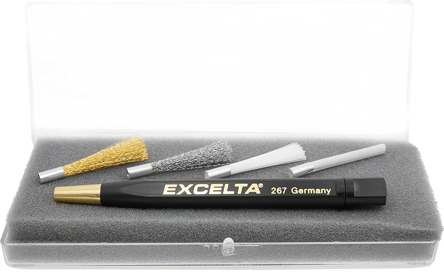 Plastic Handle with Fiberglass Bristles 0.63 Wide 267 1 Length Straight Excelta 0.25 Height Scratch Brushes Two Star