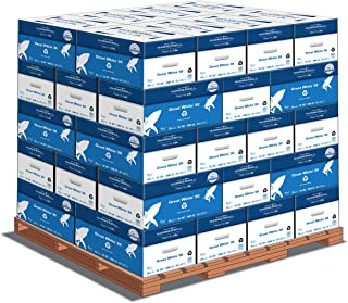 product image for Hammermill Printer Paper, Great White 30% Recycled Paper, 8.5 x 11 - 1 Pallet, 40 Cases (200,000 Sheets) - 92 Bright, Made in the USA