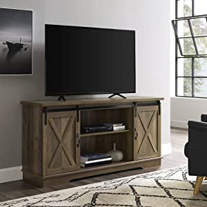 "WE Furniture TV Stand, 58"", Rustic Oak"
