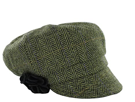 14ecf6f4 Mucros Weavers Women's Irish Made Newsboy Cap (Color 51) at Amazon ...