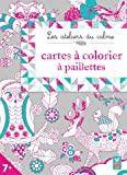 Cartes à colorier à paillettes