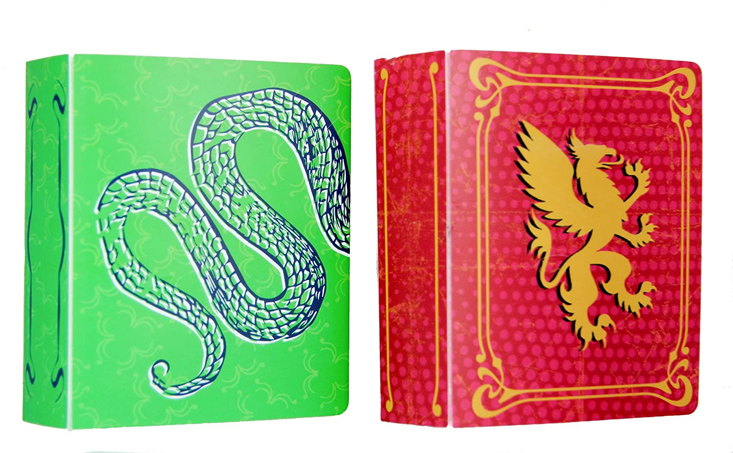 The Dream Curator Collectible Small Mini Trading Card Album 2-Pack Red and Green