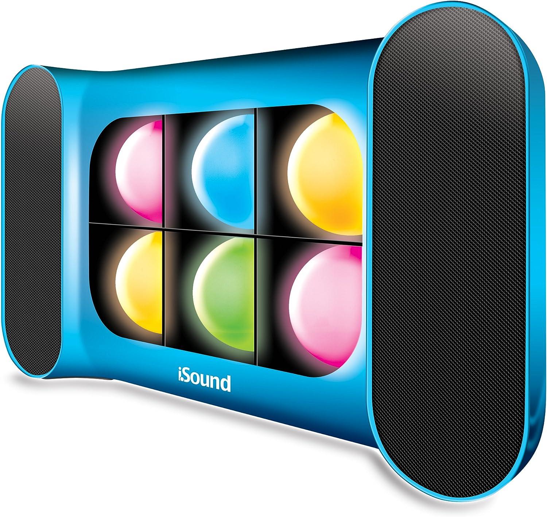 iSound iGlowSound Pro Dancing Light Bluetooth Speaker (Blue)