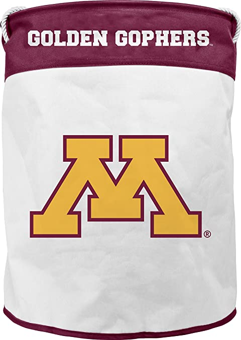 Image Unavailable. Image not available for. Color  NCAA Minnesota Golden  Gophers Canvas Laundry Basket with Braided ... 6596cbc64