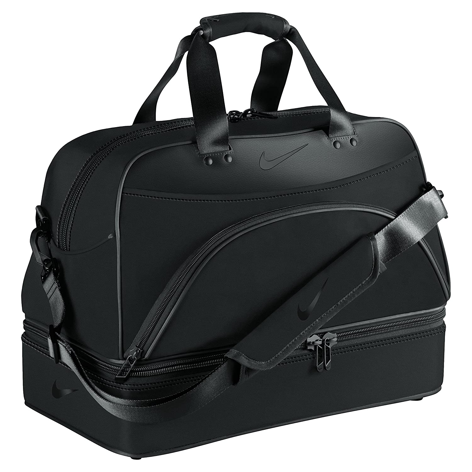 db82f14d29 Asbri Golf Leatherette Players Holdall - Black  Amazon.co.uk  Sports ...