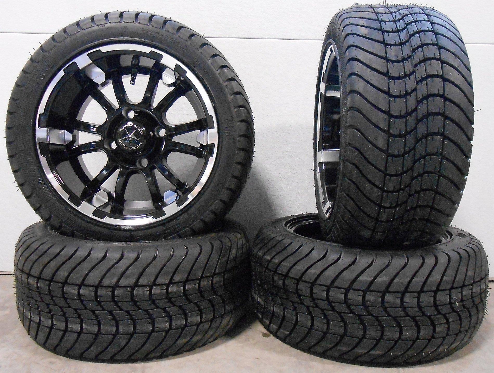 Bundle - 9 items: Fairway Alloys Sixer Golf Wheels 12'' EFX Lo Pro 225x35-12 Tires