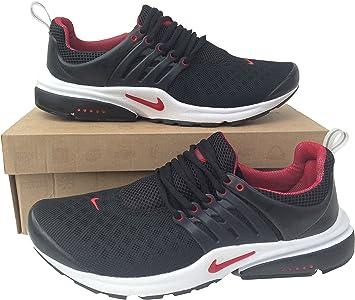 Nike Air Presto Negro Rojo para hombre Mujer tamaños 4,5 A 11 Zapatillas Zapatillas Zapatillas De Running * * NUEVO, mujer unisex hombre Mujer, negro /rojo: Amazon.es: Deportes y aire libre