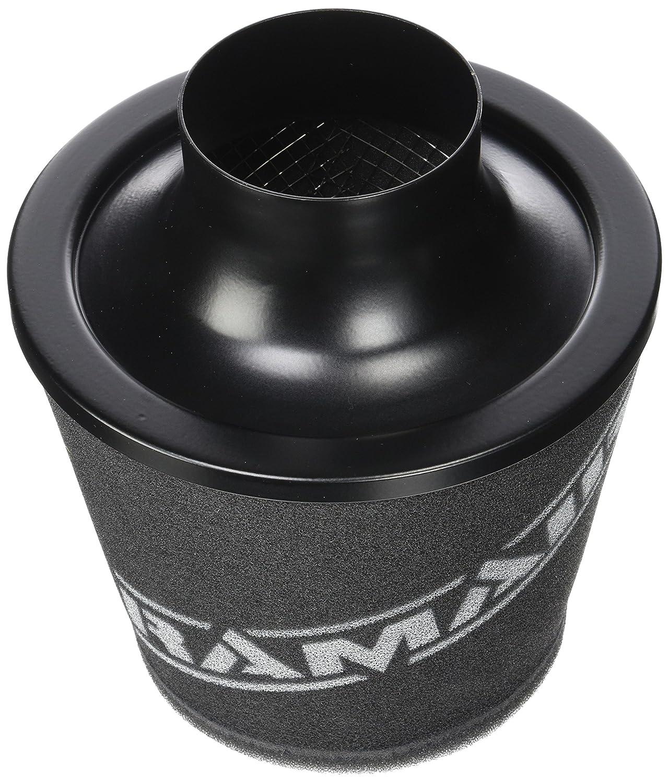 Ramair Filters JS-090-BK Filtro de aire con cuello de aleaci/ón 90 mm universal color negro