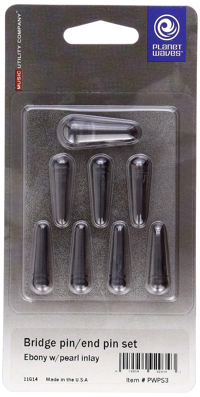 Planet Waves Ebony Bridge Pins with End Pin Set, Ebony D'Addario &Co. Inc PWPS1