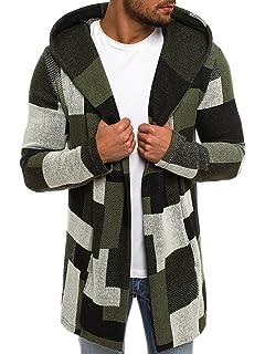e7b8f4079d64 OZONEE Herren Strickjacke Kapuzenpullover Pulli Hoodie Sweatshirt Pullover  Pulli 777 008SW