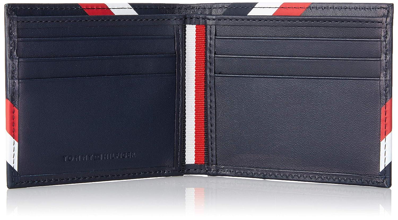 Tommy Hilfiger Bold Corporate Mini Cc Wallet Corporate 2 x 8.7 x 11 cm B x H x T Men/'s Credit Card Case Blue