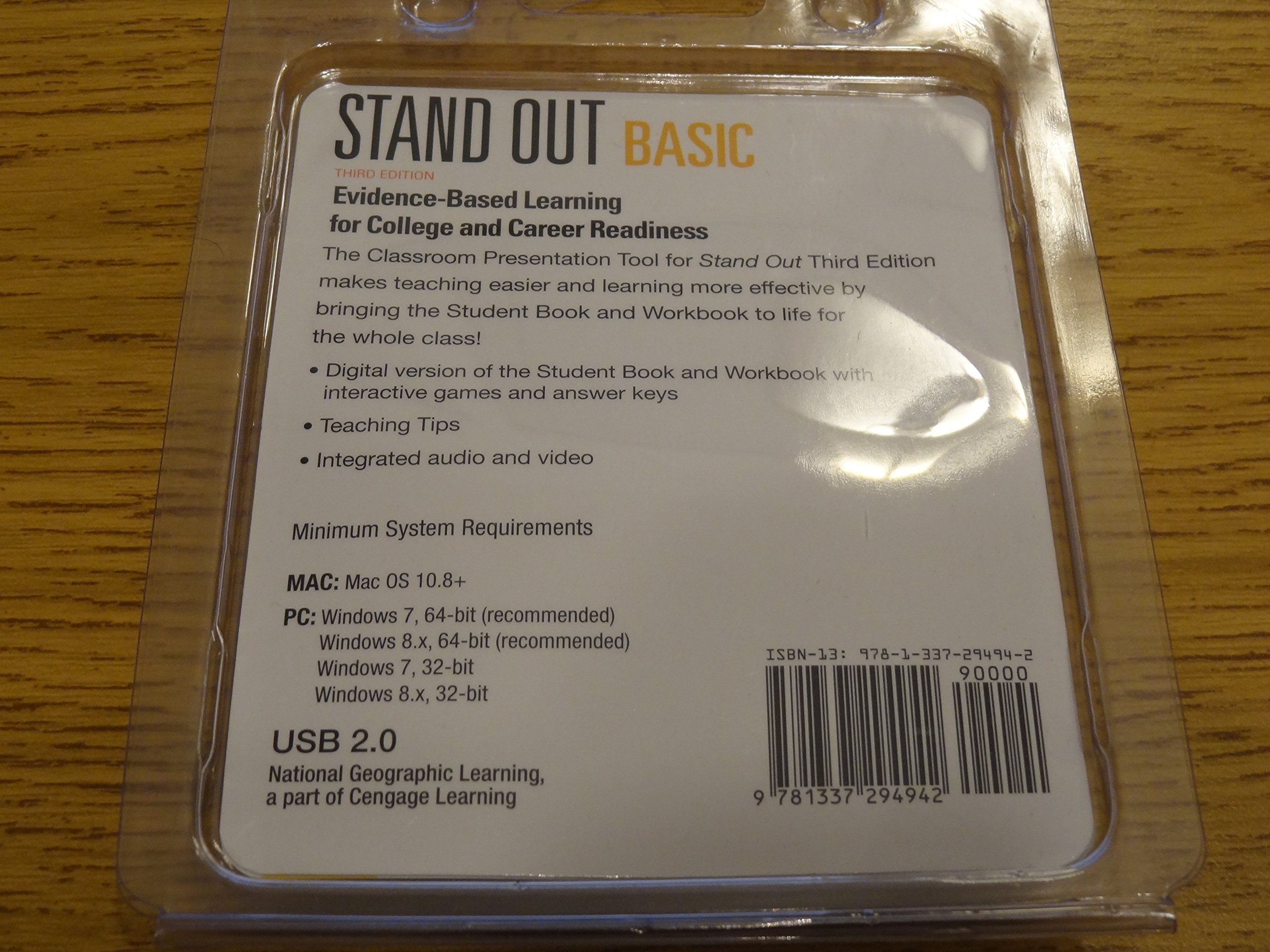 stand out basic third edition classroom presentation usb tool by