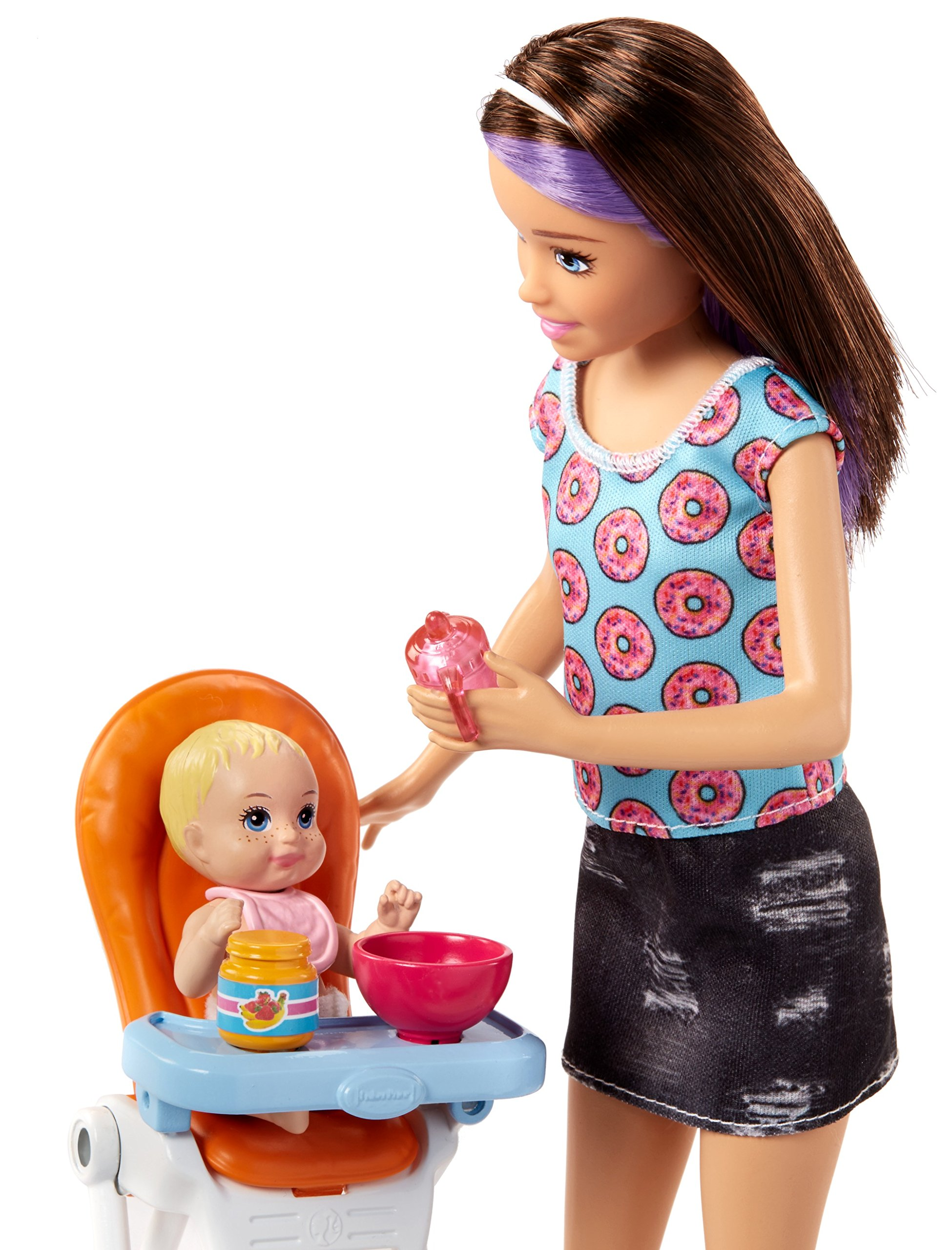 Barbie Skipper Babysitters Inc. Doll and Feeding Playset by Barbie (Image #3)