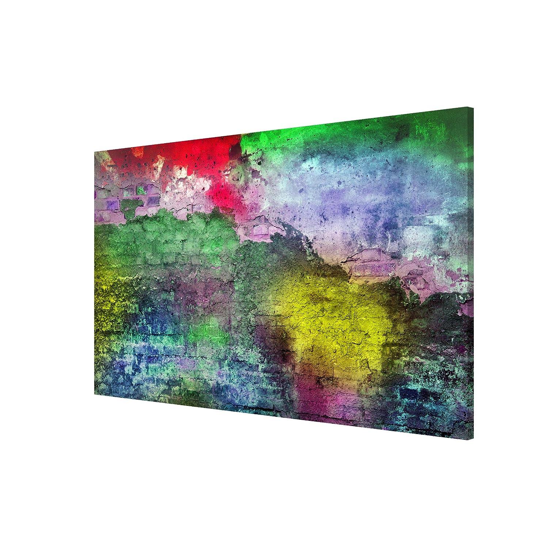 banjado Schreibtafel silber magnetisch mit Motiv Magnettafel Farbspritzer