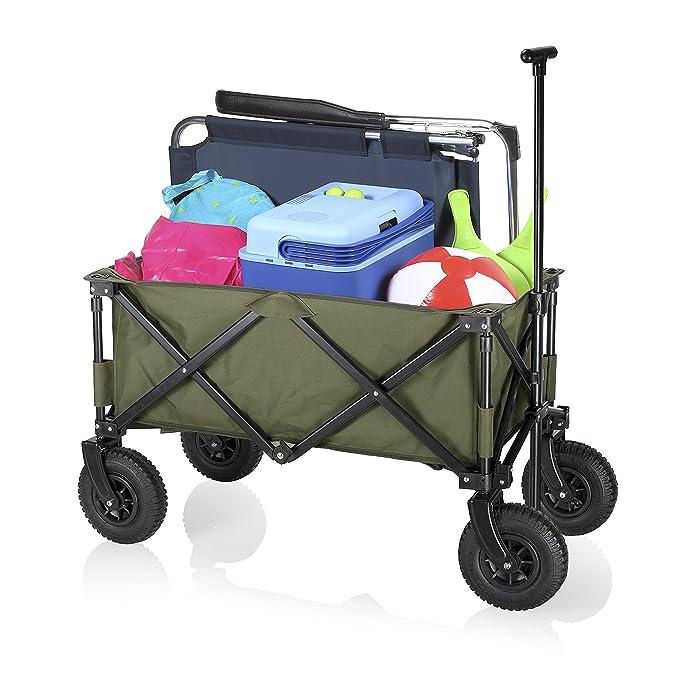 Campart HC-0915 - Carrito de jardín plegable, capacidad 70 kg, color ...