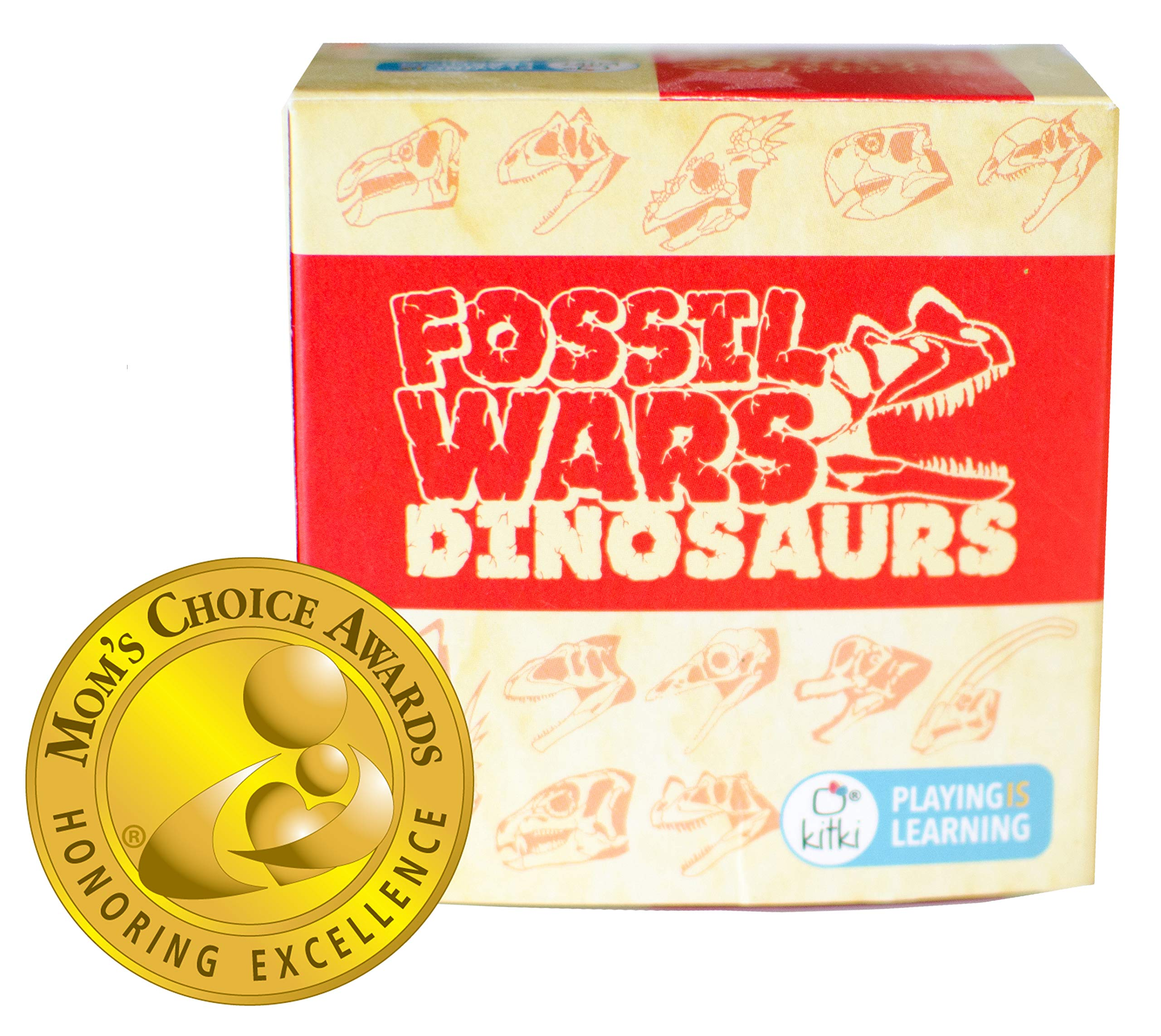 Kitki Fossil Wars Dinosaurs Game Stem Science Trivia Toy for Kids of Ages 8 and Up