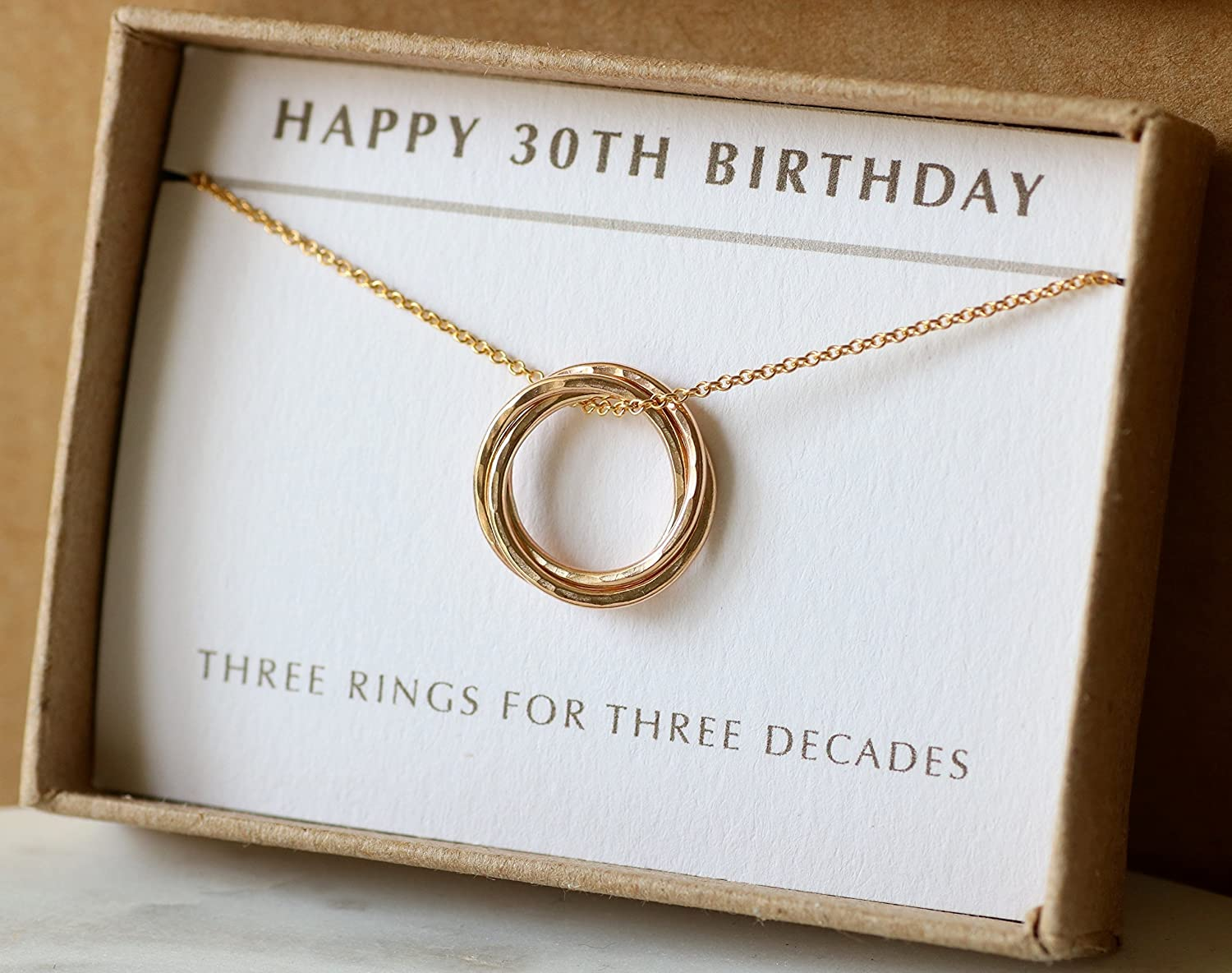 30th Birthday Gift For Her 3 Best Friend Idea Sister Dainty Gold Necklace