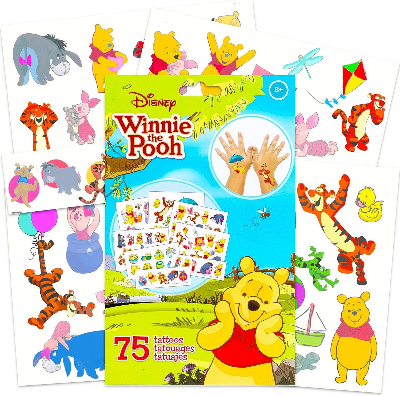RoomMates Winnie The Pooh Winnie The Pooh Stickers and Tattoos! 39 Pc Winnie The Pooh Room Decor Bundle with 300 RoomMates Winnie The Pooh Wall Decal Set