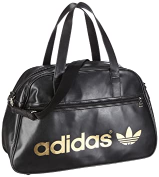 a87e111fcca0 Adidas Originals AC Holdall Sports Bag - Black Leather  Amazon.co.uk ...