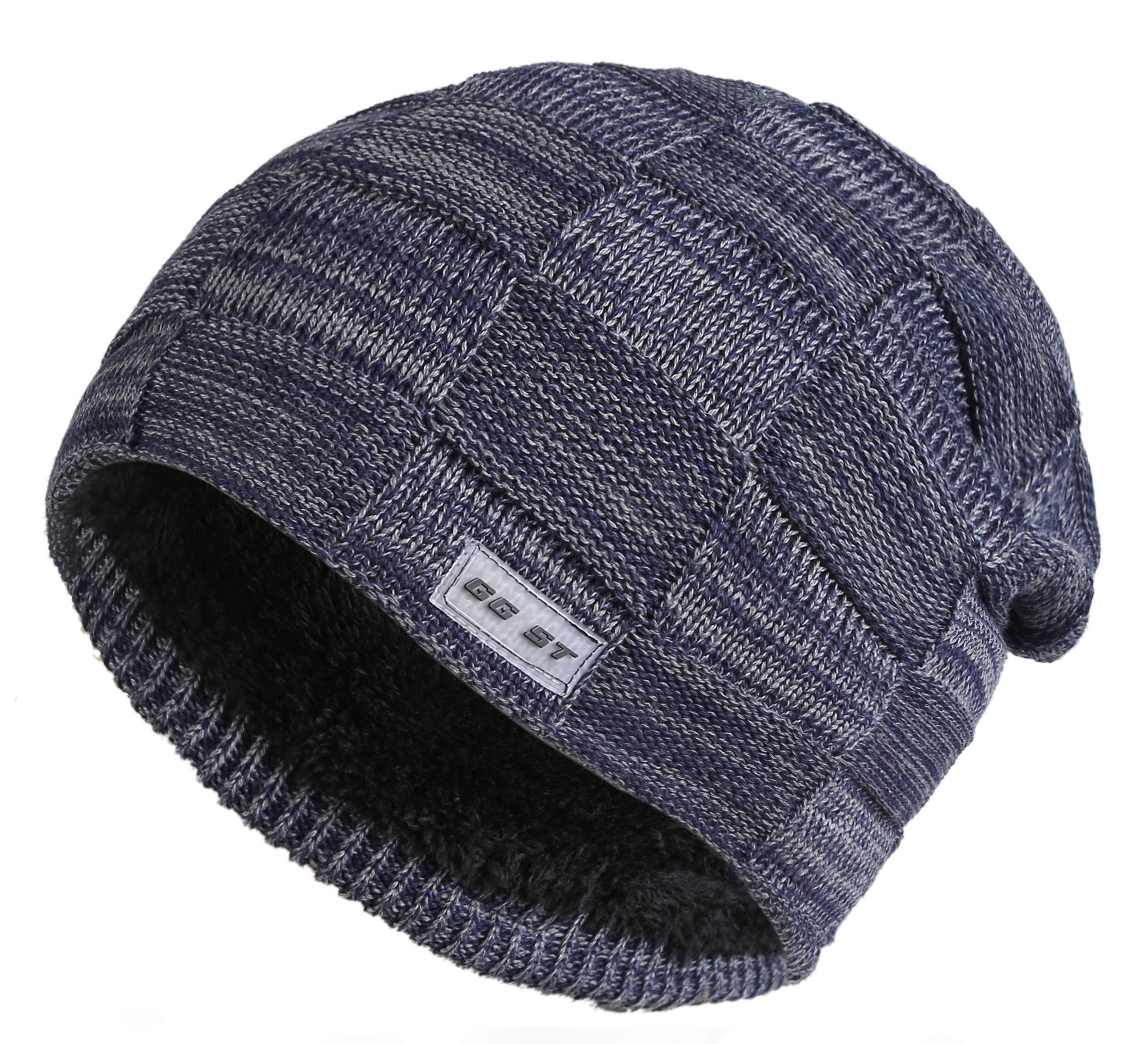 eeee02a2848 GG ST Winter Long Hat Men   Women Fleece Lining Beanie Skull Cap Warm Knit  Ski ...